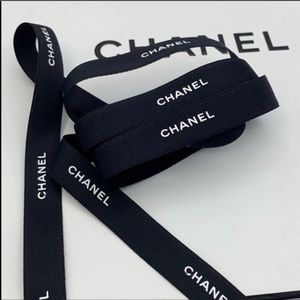 - NEW! 40 inches Authentic Chanel Black Ribb…